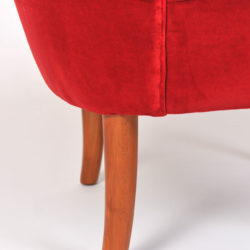 The image for Pair Red Velvet Chairs 06