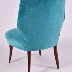 The image for Pair Turquoise Velvet Chairs 05