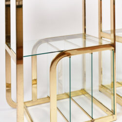 The image for Pair Us Brass Display Shelves 04