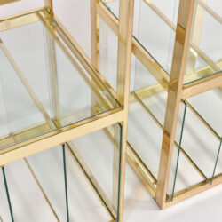 The image for Pair Us Brass Display Shelves 05