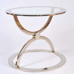 The image for Pair Us Chrome Circular Sidetables 02