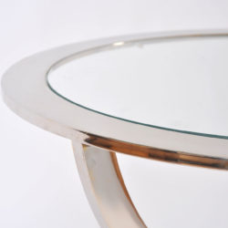 The image for Pair Us Chrome Circular Sidetables 05