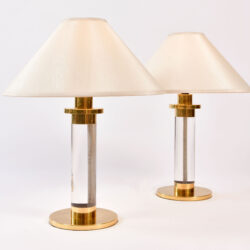 The image for Pair Us Lucite Brass Lamps 01