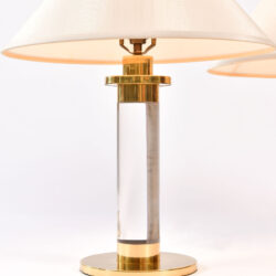 The image for Pair Us Lucite Brass Lamps 02