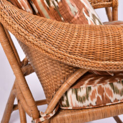 The image for Pair Us Wicker Armchairs 07
