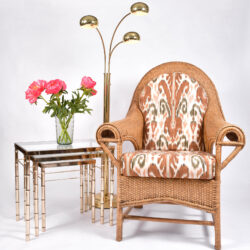 The image for Pair Us Wicker Armchairs 08