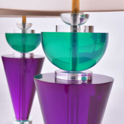 The image for Pair Van Teal Lamps 05