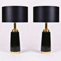 The image for Pair Black Swedish Lamps 02