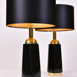 The image for Pair Black Swedish Lamps 04