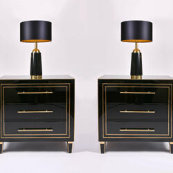 The image for Pair Black Swedish Lamps 05