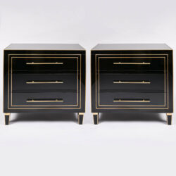 The image for Pair Black Glass Cabinets 01