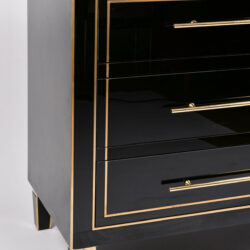 The image for Pair Black Glass Cabinets 04