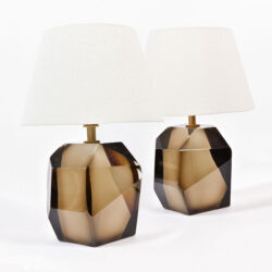 The image for Pair Bronze Rock Lamps 01