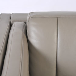 The image for Pair Grey Leather Armchairs 08