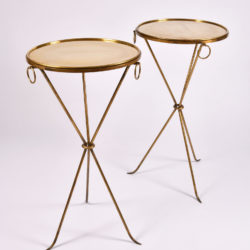 The image for Pair Gueridons Bronze Tables 02