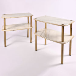 The image for Pair Marble Topped Side Tables 01