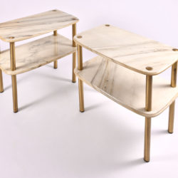 The image for Pair Marble Topped Side Tables 02