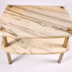 The image for Pair Marble Topped Side Tables 06