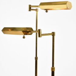 The image for Pair Mid Century Brass Floor Lamps 02