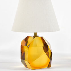 The image for Pair Of Amber Rock Lamps 02