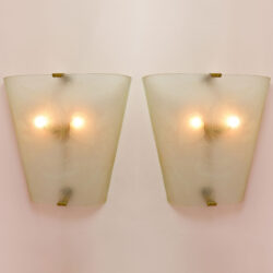 The image for Pair Of Etched Glass Wall Lights 01