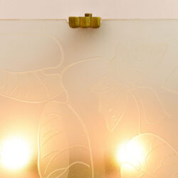 The image for Pair Of Etched Glass Wall Lights 03