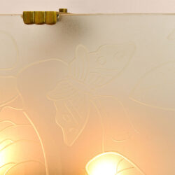 The image for Pair Of Etched Glass Wall Lights 04