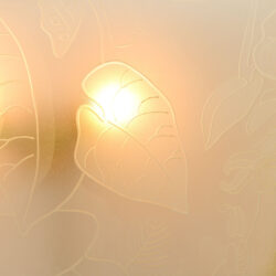 The image for Pair Of Etched Glass Wall Lights 06
