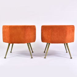 The image for Pair Of Orange Stools 01