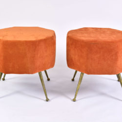 The image for Pair Of Orange Stools 03
