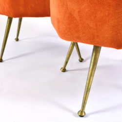 The image for Pair Of Orange Stools 05