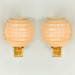 The image for Pair Of Ribbed Globe Wall Lights 01