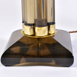 The image for Pair Smoked Column Lamps 05