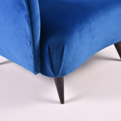 The image for Paolo Buffa Blue Velvet Armchair 07