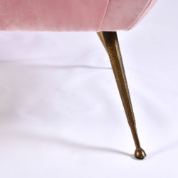 The image for Pink Velvet Armchairs And Pouf 07