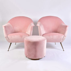 The image for Pink Velvet Circular Stool 03