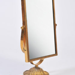 The image for Rectangular Brass Table Mirror 02