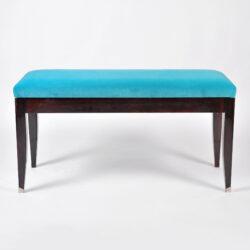 The image for Turquoise Velvet Stool 01