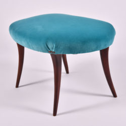 The image for Turquoise Velvet Stool 02