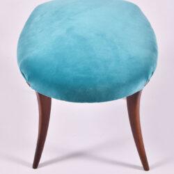 The image for Turquoise Velvet Stool 04