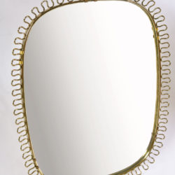 The image for Twirl Brass Wall Mirror 02