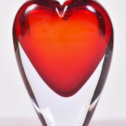 The image for Two Murano Glass Heart Vases 02