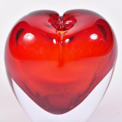 The image for Two Murano Glass Heart Vases 05