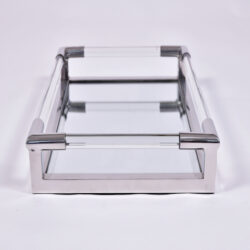 The image for Us Lucite Chrome Rectangular Tray 2