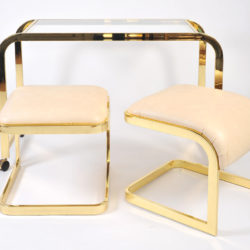 The image for Us Brass Desk And Stools 03