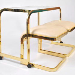 The image for Us Brass Desk And Stools 04
