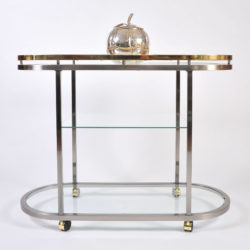 The image for Us Chrome Brass Trolley 01