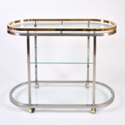 The image for Us Chrome Brass Trolley 03