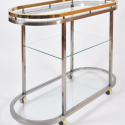 The image for Us Chrome Brass Trolley 04