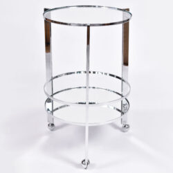 The image for Us Circular Chrome Drinks Trolley 01